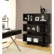 monarch specialties cappuccino open bookcase i 2531 the home depot