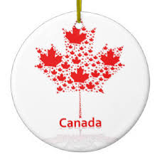 canada maple leaf canadian symbol ornaments keepsake ornaments