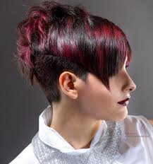 hairstle longer in front than in back very short hairstyle with a back that is longer than the front