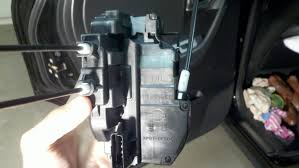 nissan rogue door handle 03 u0027 driver door lock actuator needs replacement help how