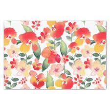 floral tissue paper green craft tissue paper zazzle