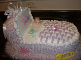 bassinet cake for a baby shower make the vanilla cake blue or