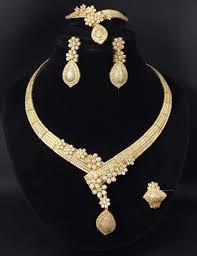 necklace jewellery set images Beautiful gold bridal wedding necklace jewelry set jpg