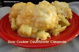 slow cooker cauliflower casserole who needs a cape