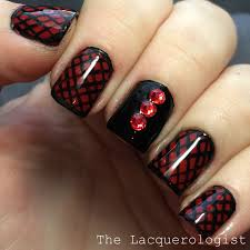 valentine u0027s day red u0026 black nail art u2022 casual contrast