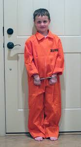 Orange Prison Jumpsuit Halloween Costume Ninja Prisoner Felix Baumgartner Walk Bar