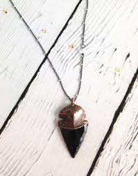 dragon glass necklace images Raw obsidian dragonglass arrowhead on 24 sterling silver jpg