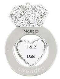 buy engagement ring ornament personalized ornament
