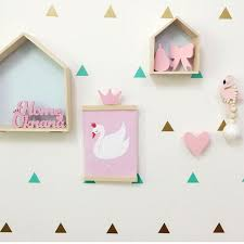 wooden crown shape hook wall hangers organizer for room