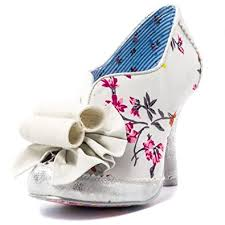Wedding Shoes Irregular Choice Womens Irregular Choice Hook Line And Sinker Cream Pink Wedding