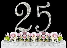 rhinestone cake topper number 25 by other kitchen