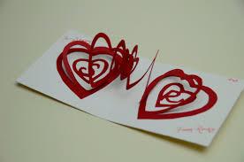 spiral heart pop up card template creative pop up cards