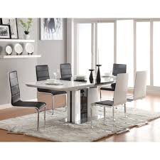 furniture narrow dining chairs rectangle kitchen table with