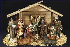 nativity sets 12 11pc resin nativity set with stable