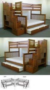 Twin Over Full Bunk Bed With Storage Drawers Foter - Stairway bunk bed twin over full