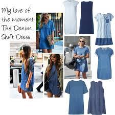 the denim shift dress polyvore