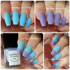 blue purple temperature change color nail polish thermal changing