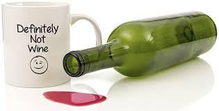 amazon com definitely not wine funny coffee mug 11 oz birthday