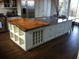 adorable kitchen island with countertop from solid wood boards on