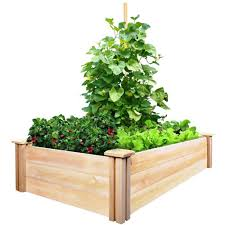 greenes fence 2 ft x 4 ft x 10 5 in cedar raised garden bed