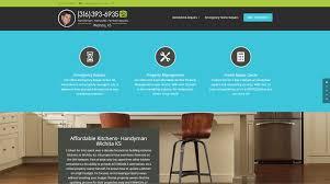 home remodeling website design handyman wichita ks website design biglilfish divi website