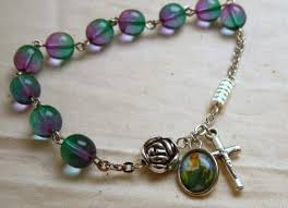 st jude bracelet jude rosary bracelet with blue and prayerbeads