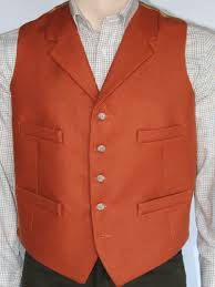 doeskin wool waistcoat with collar which is made in england