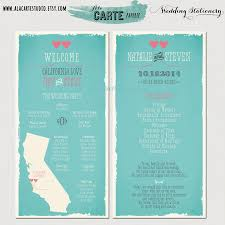 state wedding ceremony program card wedding program