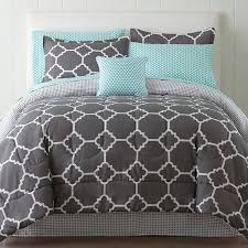 Gray Bed Set Home Expressions Tiles Complete Bedding Set With Sheets Jcpenney