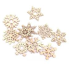 tinksky tree ornaments wooden hanging snowflake