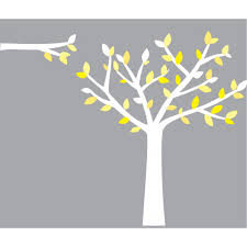 White Tree Wall Decal Nursery by Yellow And Grey Wall Stickers Tree For Nursery Or Baby Room