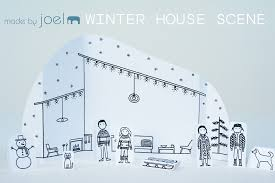 Winter House Made By Joel Winter House Paper City Scene