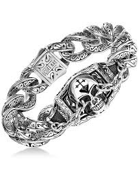 skull link bracelet images Scott kay men 39 s skull link bracelet in sterling silver bracelets tif
