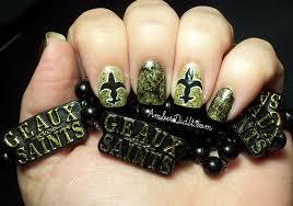 amber did it nfl nail art series 1 new orleans saints nails