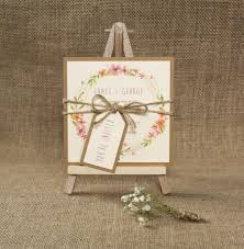 Handmade Wedding Invitation Cards Boho Wedding Save The Date Card Floral Invite Rustic Wedding