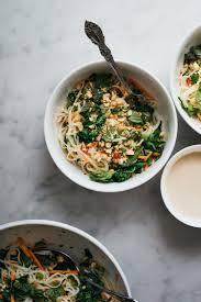 herbal rice noodle salad with broccoli rabe u2014 o u0026o eats