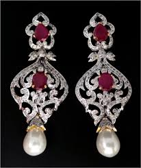 diamond chandelier earrings chandelier earrings online india 2 00ct gold gemstone gold festive