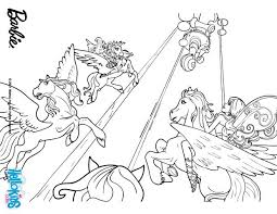 fairies ride winged horses coloring pages hellokids