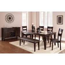 Silver Dining Room Set by Steve Silver Harlow 7 Piece Dining Table Set Tobacco Cherry