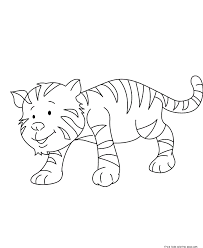 print out cute baby tiger coloring pages for kidsfree printable