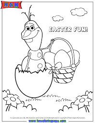frozen character olaf hatching easter egg coloring