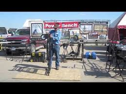 Power Bench Power Bench Easy Adjustable Workbench And Miter Saw Stand Youtube