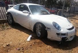 2013 porsche 911 gt3 for sale car crash porsche 911 gt3 wrecked on test drive in johannesburg