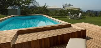 rivestimento in legno per piscine fuori terra piscine fuori terra esterne e rialzate piscine castiglione