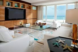 interior big room space with modern design has glass wall with