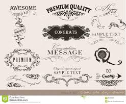 calligraphic design elements page decoration royalty free stock