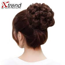 flower hair bun popular synthetic buns buy cheap synthetic buns lots from china