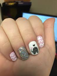 just a little elephant spitting up some hearts nail ideas