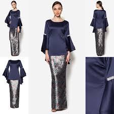 baju kurung moden zaman sekarang fesyen trend terkini baju raya 2016