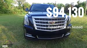 cadillac escalade price 2017 cadillac escalade premium luxury total price as tested